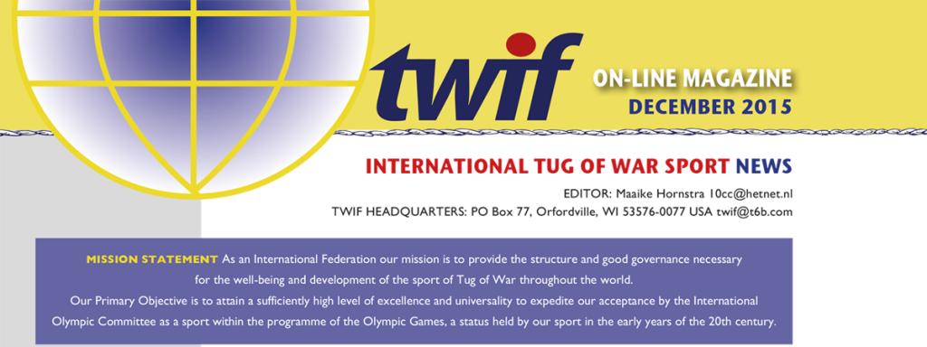 Tug of War International Federation – Online Magazine December 2015