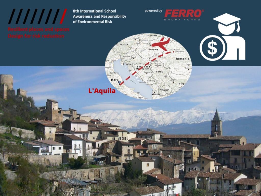 Bursă la Universitatea din Aquila – International School of Awareness and Responsibility of Environmental Risk
